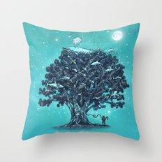 Deep Tree Diving  Throw Pillow