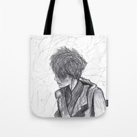 ben giles Tote Bags featuring Ben by Vidility
