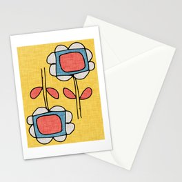 Sunflower Mod Yellow Stationery Cards