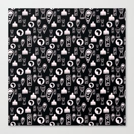 Black and White Tribal pattern. . Canvas Print