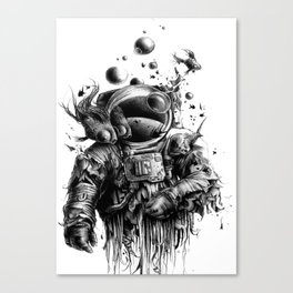 Astronaut in water Canvas Print