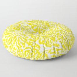 Gen Z Yellow Marigold Lino Cut Floor Pillow
