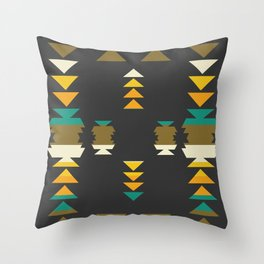 Bright shapes in the dark Throw Pillow