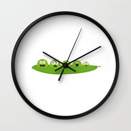 Peas  in a pod Wall Clock