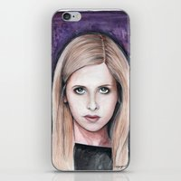 buffy iPhone & iPod Skins featuring Buffy Summers by Morgan Allain, The Inkling Girl
