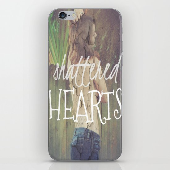 Shattered Hearts Club iPhone Skin