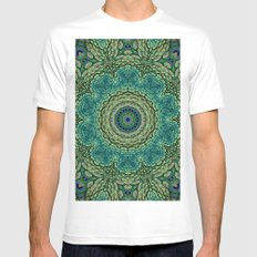 Shangri-La Mandala MEDIUM Mens Fitted Tee White