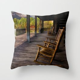 Back Porch View Throw Pillow