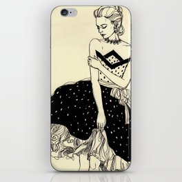 Vintage lady#2 iPhone Skin