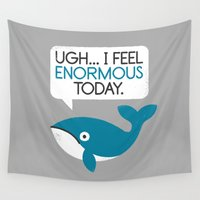 fitness Wall Tapestries featuring Water Weight by David Olenick