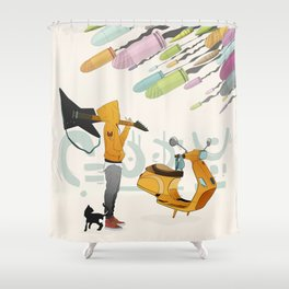 Spring Bullets Shower Curtain