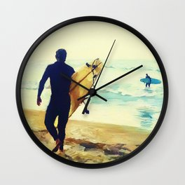 Looking Out to Shore Wall Clock