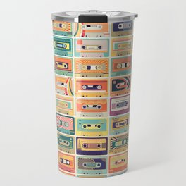 Retro Cassette Tapes Collection Travel Mug