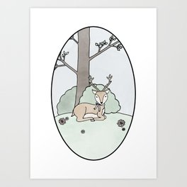 Dreamy Deer Art Print