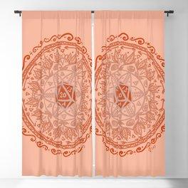 d20 Mandala Blackout Curtain