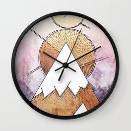 Metal Mountains Wall Clock