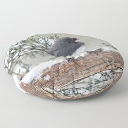 A Small Bird's Strength Floor Pillow