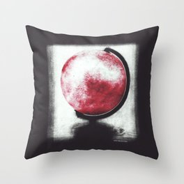 The world Globe - photopolymer/gravure Throw Pillow