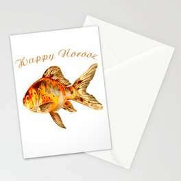 Elegant Happy Norooz Goldfish Persian New Year Stationery Cards