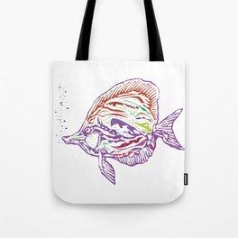Purple Tropical Fish Tote Bag