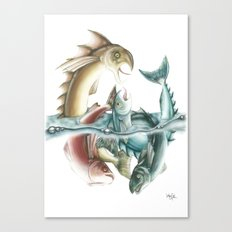 INKYFISH - Fish frenzy Canvas Print