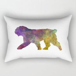 Spanish Water Dog in watercolor Rectangular Pillow