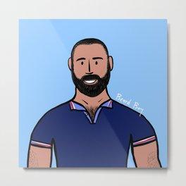 Beard Boy: David Ruiz Metal Print