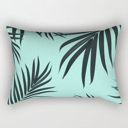 Palm Leaves Pattern Summer Vibes #7 #tropical #decor #art #society6 Rectangular Pillow