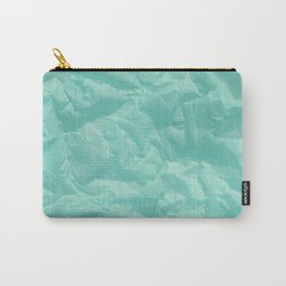 turquoise paper Carry-All Pouch