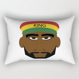 Red Yellow Green Reggae King Rectangular Pillow