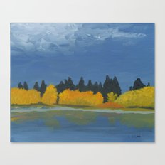 Jumbo Lake in the Fall 2015 Canvas Print