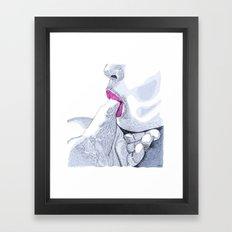 Love for sale Framed Art Print