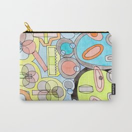 Abstract Star Colony Pattern Carry-All Pouch