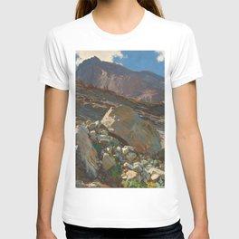 Simplon Pass Oil Painting by  John Singer Sargent T-shirt