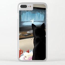 Watching TV Clear iPhone Case