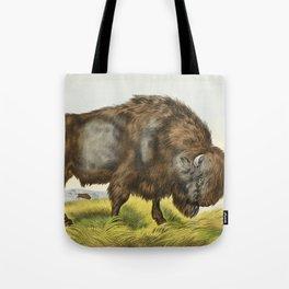 Vintage Bison Illustration Tote Bag