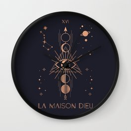 La Maison Dieu or The Tower Tarot Wall Clock