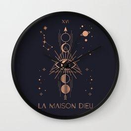 La Maison Dieu or The Tower Tarot Wall Clock