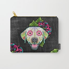 Labrador Retriever - Yellow Lab - Day of the Dead Sugar Skull Dog Carry-All Pouch