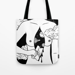 Open Up Hurts Tote Bag