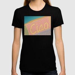 Ciao / Hello Italy Beach Umbrellas - Aerial Italian T-shirt