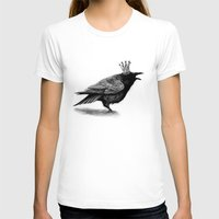 raven T-shirts featuring Raven by Anna Shell