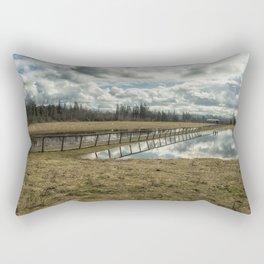 Bridge Over Sky Rectangular Pillow