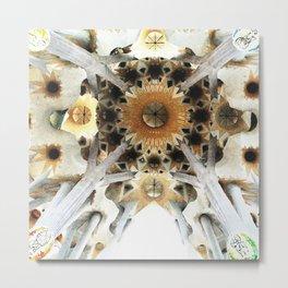 Sagrada Cathedral Sky Metal Print
