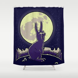 The Rabbit Shower Curtain