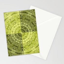 Olive mandala Stationery Cards