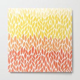 Orange Ombre 6-28 Metal Print