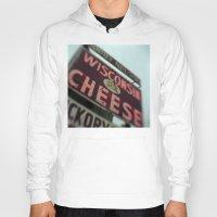 wisconsin Hoodies featuring Wisconsin Cheese by Tyler Hewitt