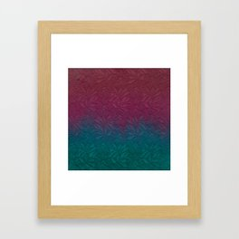 Gable green navy blue burgundy lace gradient Framed Art Print