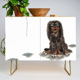Toy Spaniel with balloons Credenza